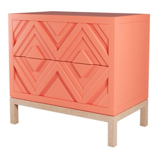Susana Side Table - Coral Gables, Natural Cerused Oak For Sale