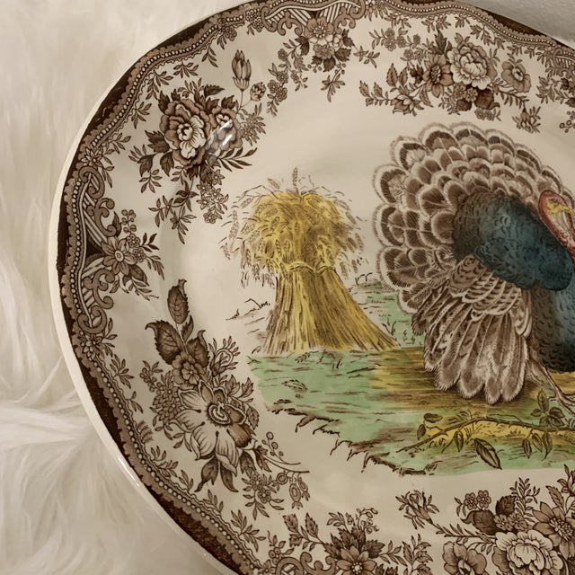 Royal Staffordshire Tonquin Brown Turkey Platter For Sale - Image 10 of 12