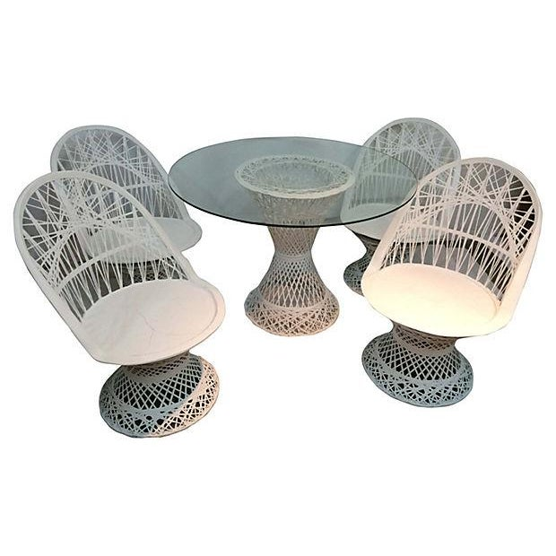 White Spun Fiberglass Patio Set - Image 1 of 3
