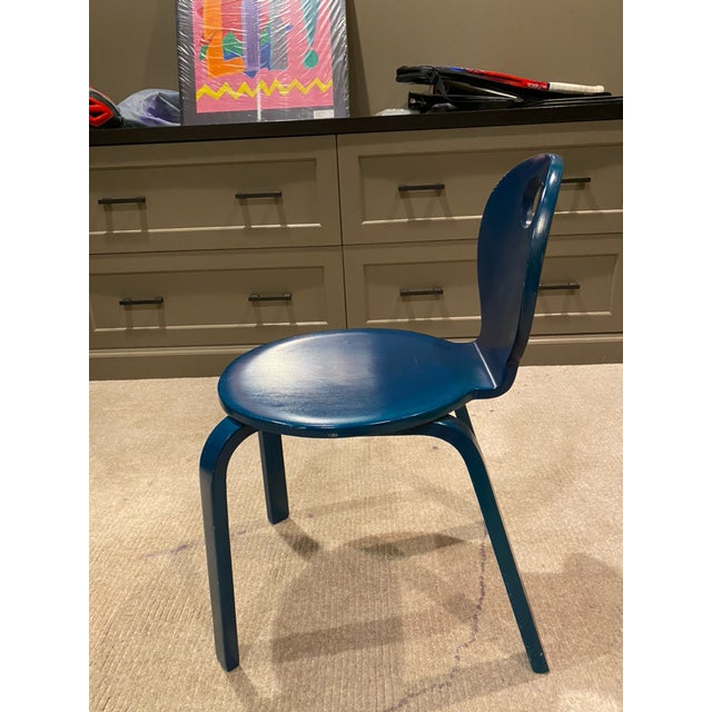 Thonet Vintage Thonet Children's Bent Wood Seat For Sale - Image 4 of 11