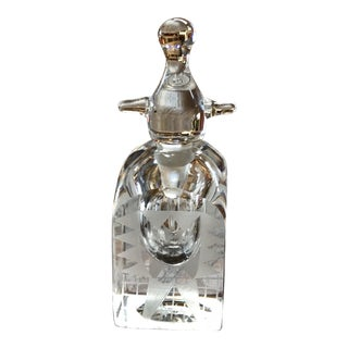 Kosta Boda Crystal Perfume Bottle by Erik Hogland For Sale