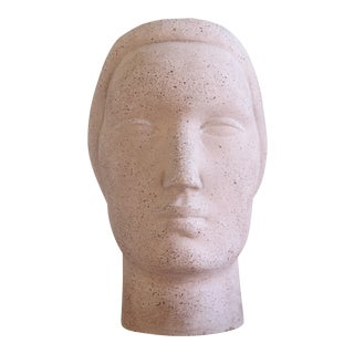 1930s Oronzio Maldarelli for Robinson Galleries Art Deco Head Sculpture For Sale