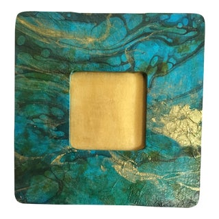 Gold Turquoise Picture Frame