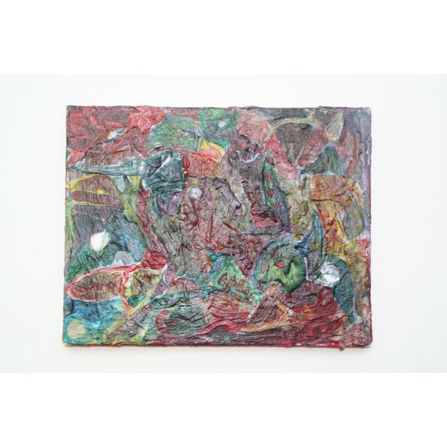 Original Vintage Abstract Painting For Sale - Image 5 of 5
