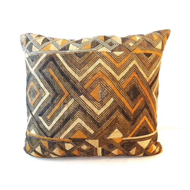African Embroidered Kuba Textile Pillow - Image 3 of 7