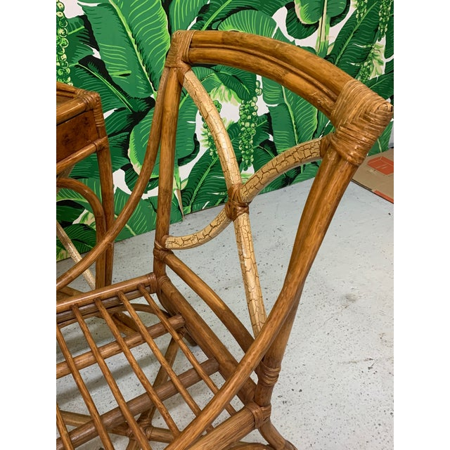 Mid Century Bamboo Desk and Chair For Sale - Image 11 of 13