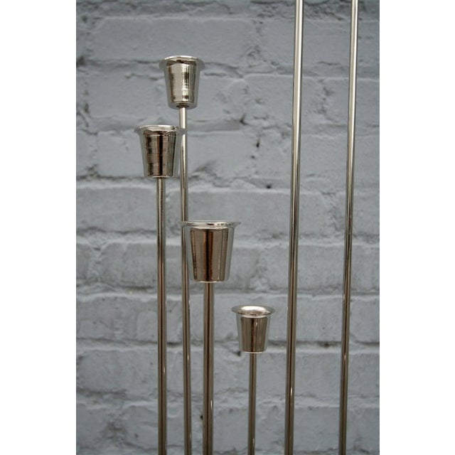 1970s Nickel-Plated Candleholders With Eleven Cups - a Pair For Sale - Image 9 of 10