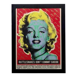 Marilyn Monroe -Original Pop Art Poster by Billy Bishop & Obsolete For Sale