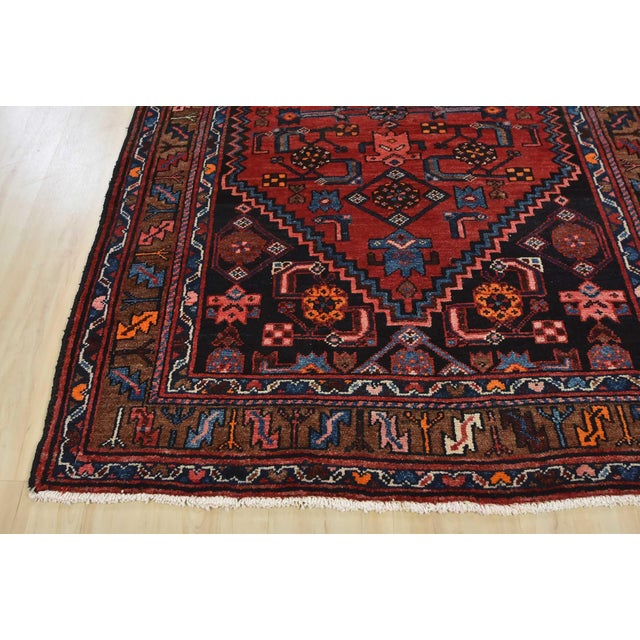 Vintage Persian Hamadan Runner - 4'2'' X 10' For Sale - Image 10 of 13