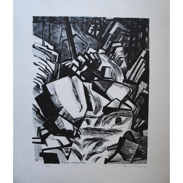 Vintage Lithograph by Mary Finley Fry For Sale