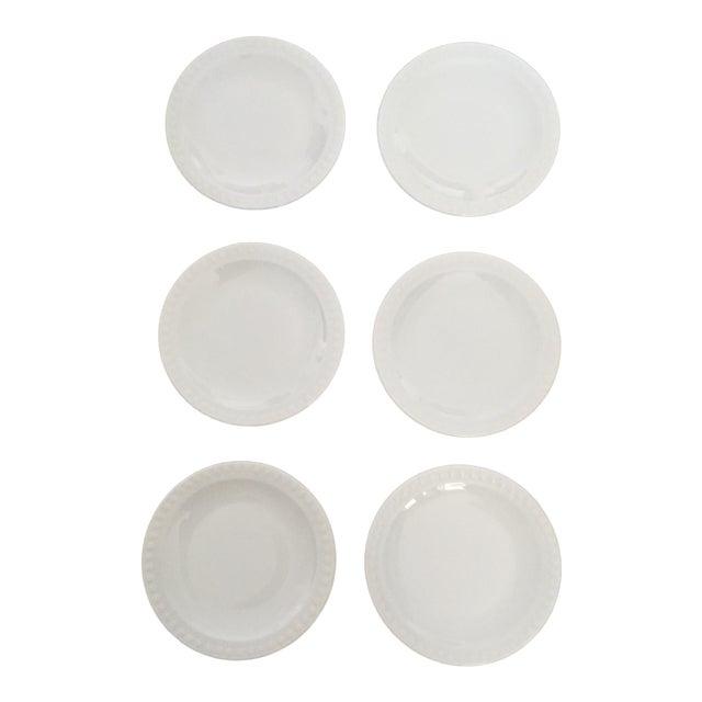 Vintage Corning Pyroceram Tableware White Dessert Plates - Set of 6 - Image 1 of 11