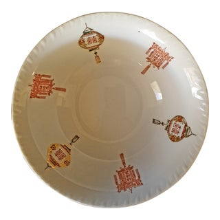 1900s Tapai Taiwan Lantern Handpainted Porcelain Bowl