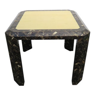 Enrique Garcel Tessellated Horn Card Game Table For Sale