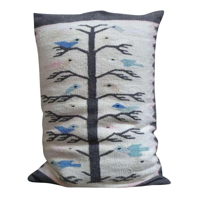 Mexican Indian Tree of Life Bolster Pillow - Image 1 of 4