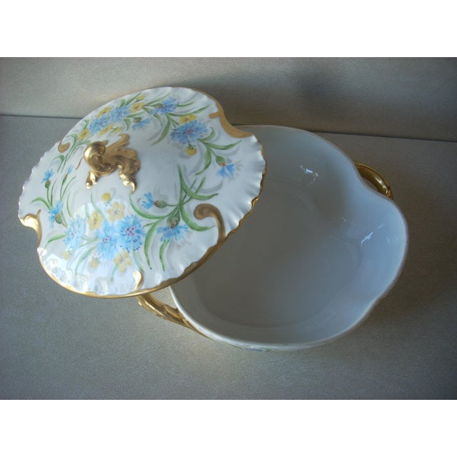 Baroque 1930s Limoges Covered Serving Dish For Sale - Image 3 of 6