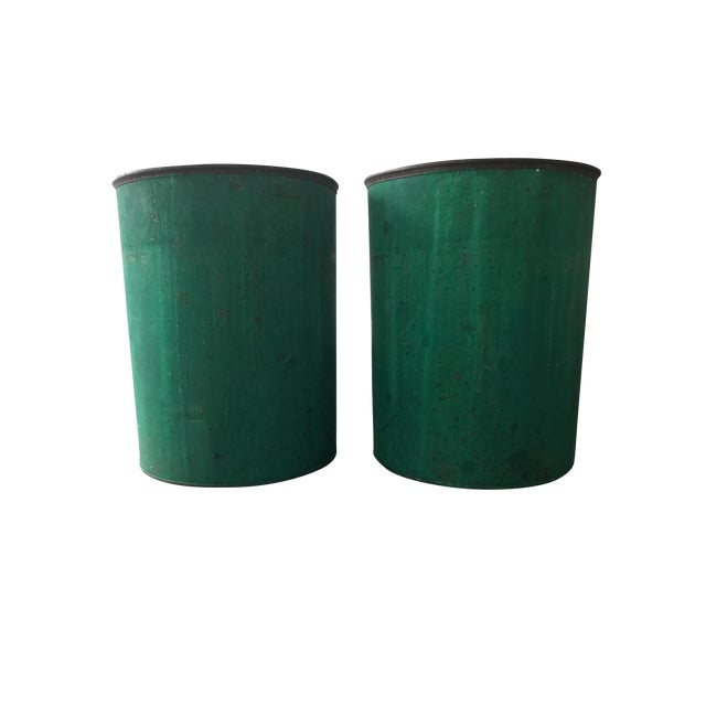Vintage Sap Buckets - A Pair - Image 1 of 5
