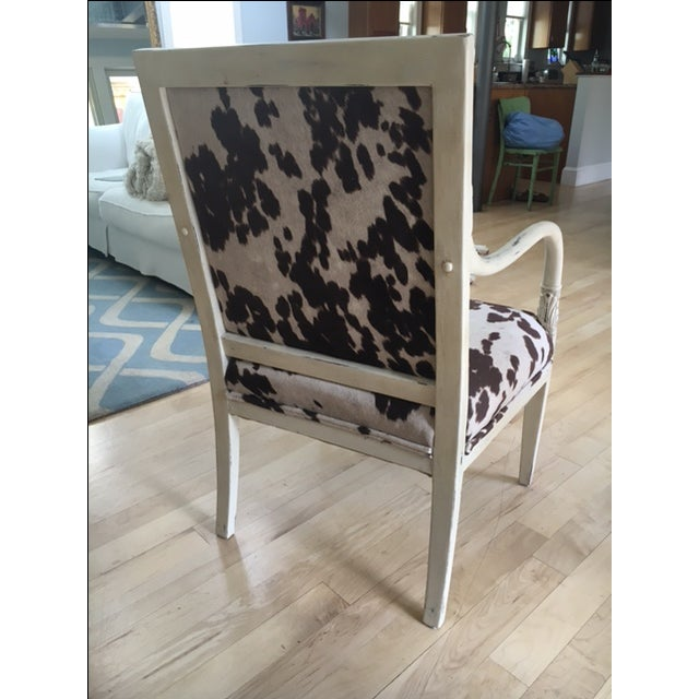 Faux Cowhide Armchair - Image 3 of 5