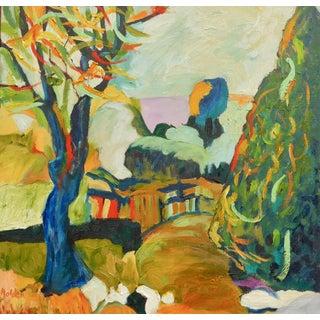 Garden Path Landscape - Oil Painting For Sale