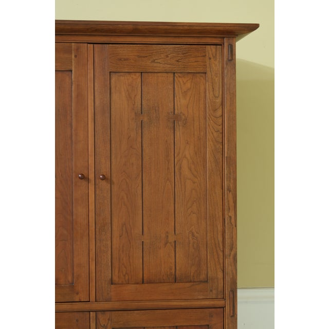 Mission Stickley Arts & Crafts Mission Cherry Tv Armoire For Sale - Image 3 of 13