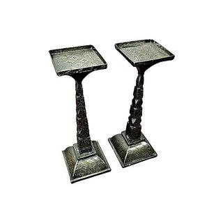 Vintage Indian Candleholder - A Pair