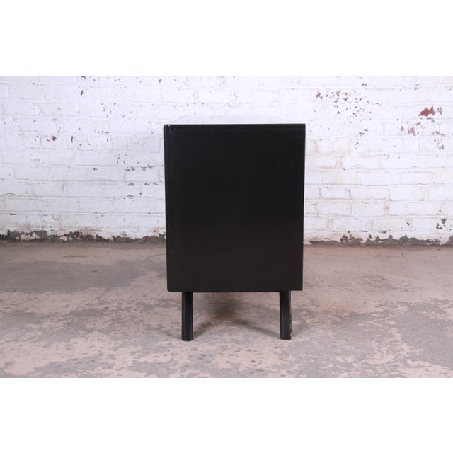 Mid-Century Modern Ebonized Walnut Triple Dresser or Credenza by United For Sale - Image 10 of 11