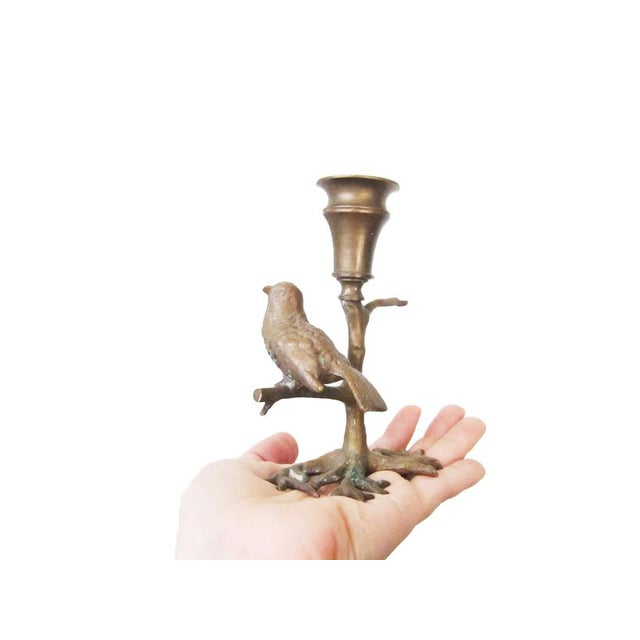 This little bronze bird is ready to light up your table! Cast in bronze and a gorgeous sculpt, this antique piece is in...