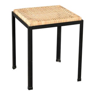 Danny Ho Fong Iron and Rattan Stool