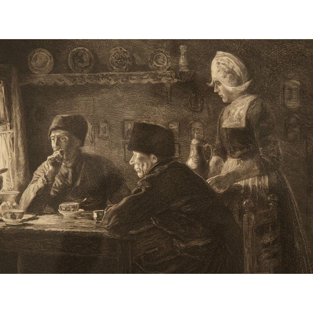 Authentic Jules Benoit-Lévy Engraving For Sale In Chicago - Image 6 of 11