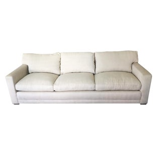 A. Rudin Contemporary Ivory Cream Upholstered Sofa