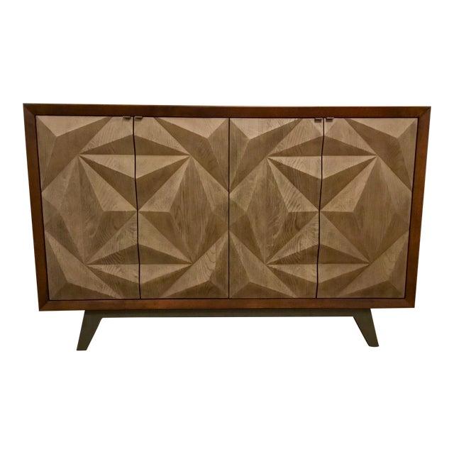 Modern Wood Raised Door Cabinet For Sale