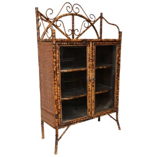 19th Century English Bamboo Cabinet or Bookcase