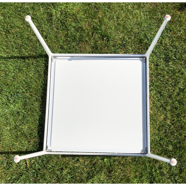 Knoll Richard Schultz 1966 Collection Porcelain Outdoor Table For Sale - Image 4 of 5