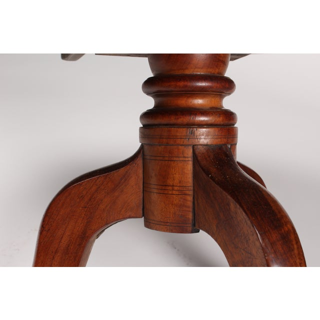 Romanian Walnut Round Side Table - Image 4 of 6