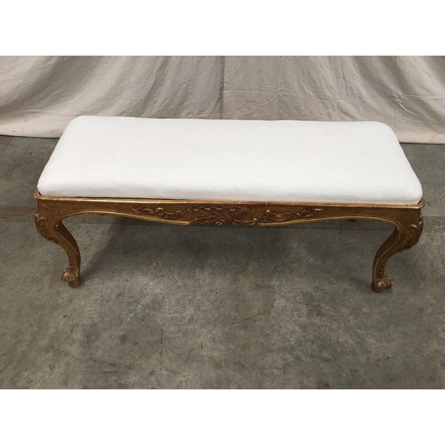 19th Century Italian Antique Upholstered Vanity Bench For Sale - Image 9 of 11
