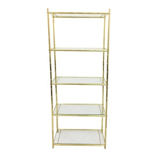 Chinese Chippendale Faux Bamboo Etagere