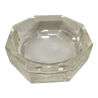 Octagonal Clear Lucite Bowl For Sale