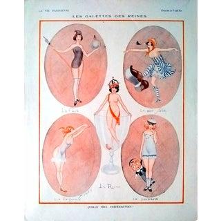 """Vald'Es 1924 """"Les Galettes des Reines"""" La Vie Parisienne Print"""