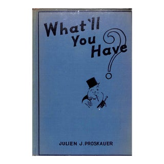 """""""What'll You Have?"""" Book For Sale"""