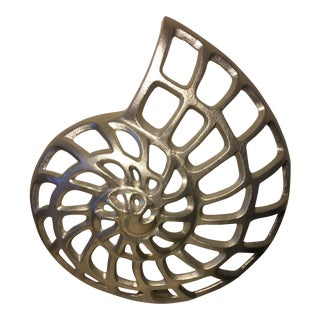 Intake Snail Shell Metallic Sculpture For Sale
