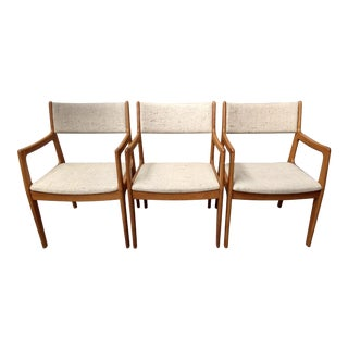 Danish Modern Teak Midcentury Dining / Office Chairs, Set of 3