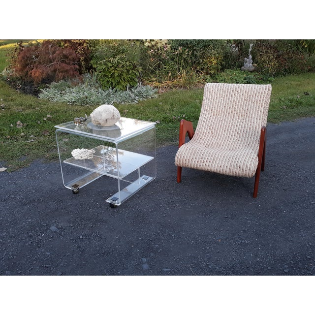 1970's Vintage Lucite Bar Cart For Sale - Image 9 of 11