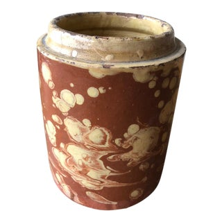"Italian Pugliese Marbleized Canister- 7.25""h For Sale"