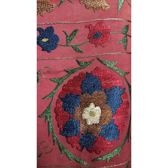 Mid 20th Century Vintage Turkish Bokara Suzani Blanket For Sale - Image 5 of 11
