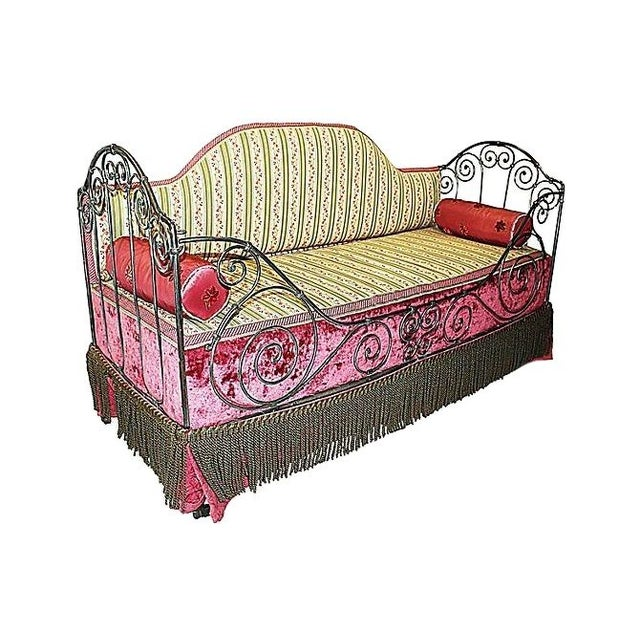 Image of 1880s French Antique Iron Daybed