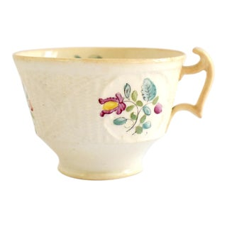 Antique C. 1820 Staffordshire Creamware Teacup For Sale
