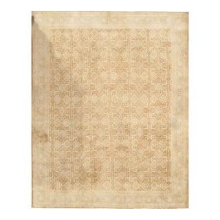 Pasargad Antique Persian Tabriz Wool Pile Rug - 9′11″ × 12′7″ For Sale