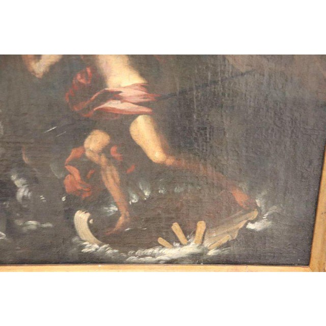 17th Century Italian Oil Painting on Canvas, Subject Mythological For Sale - Image 10 of 13