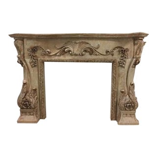 Hand Carved Marble Fireplace