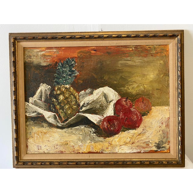 Still Life of Fruit Oil Paining For Sale In Washington DC - Image 6 of 6