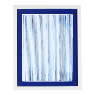 """""""Rainy Day Blues"""" Contemporary Abstract Watercolor Painting by Dana Quist, Framed For Sale"""